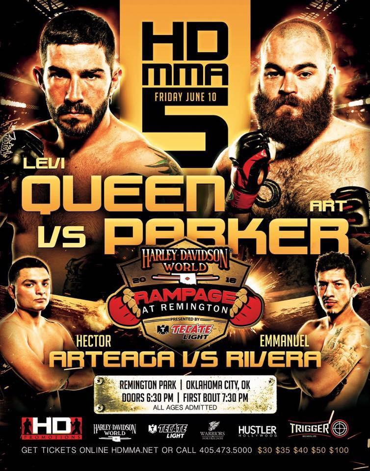 HD MMA 5: QUEEN VS PARKER - JUNE 10, 2016 REMINGTON PARK CASINO, OKLAHOMA CITY