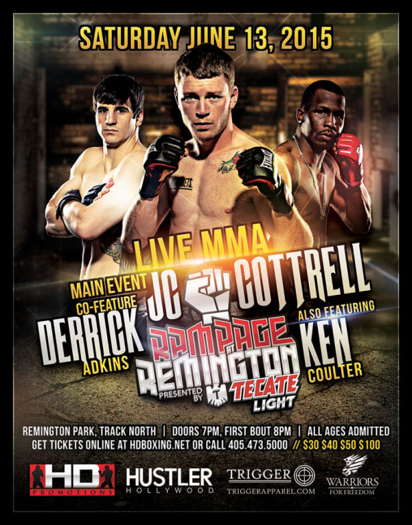 UNAFFILIATED HD MMA 2: COTTRELL VS LONG  - JUNE 13, 2015 REMINGTON PARK CASINO, OKC
