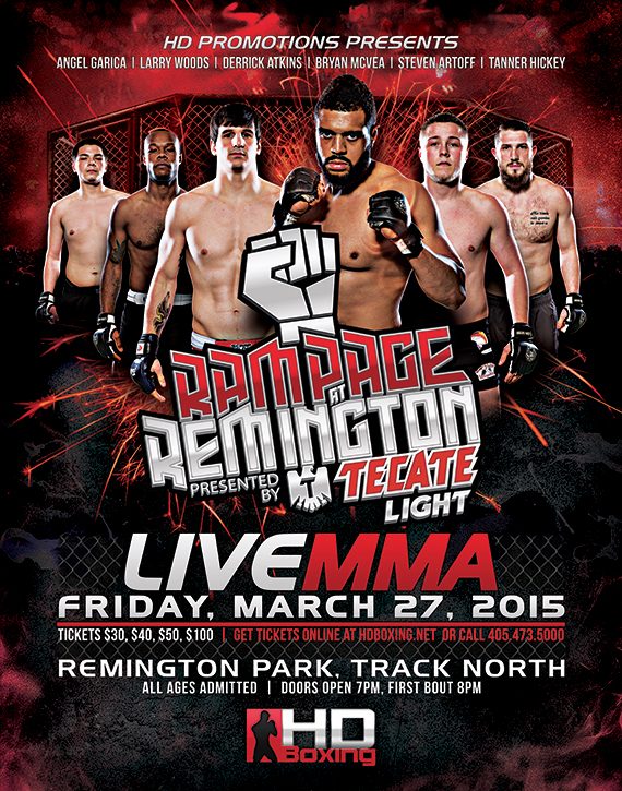 UNAFFILIATED HD MMA 1: MCVEA VS WILLIS - MARCH 27, 2015 REMINGTON PARK CASINO, OKC