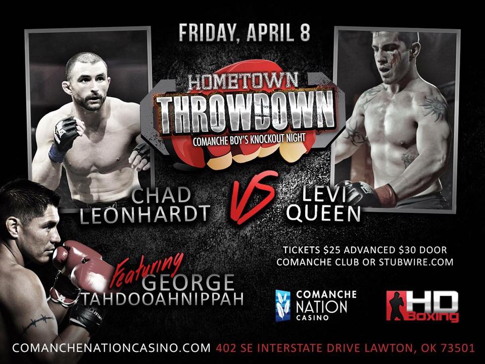 HD BOXING & MMA: HOMETOWN THROWDOWN 2016 APRIL 8, 2016 COMANCHE NATION CASINO, LAWTON