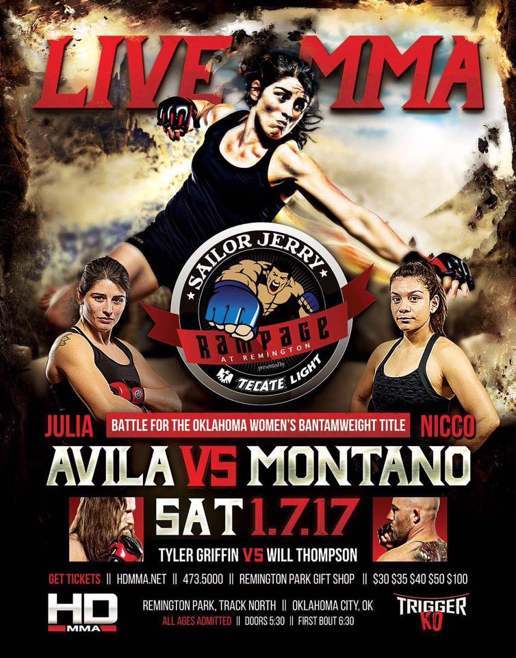 HD MMA 7: AVILA VS MONTANO - JANUARY 7, 2017  REMINGTON PARK CASINO, OKC