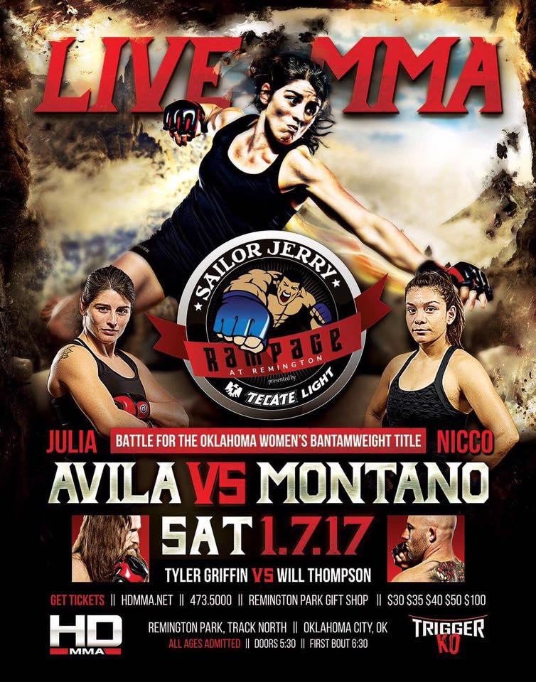 HD MMA 7: AVILA VS MONTANO - JANUARY 7, 2017 REMINGTON PARK CASINO, OKLAHOMA CITY