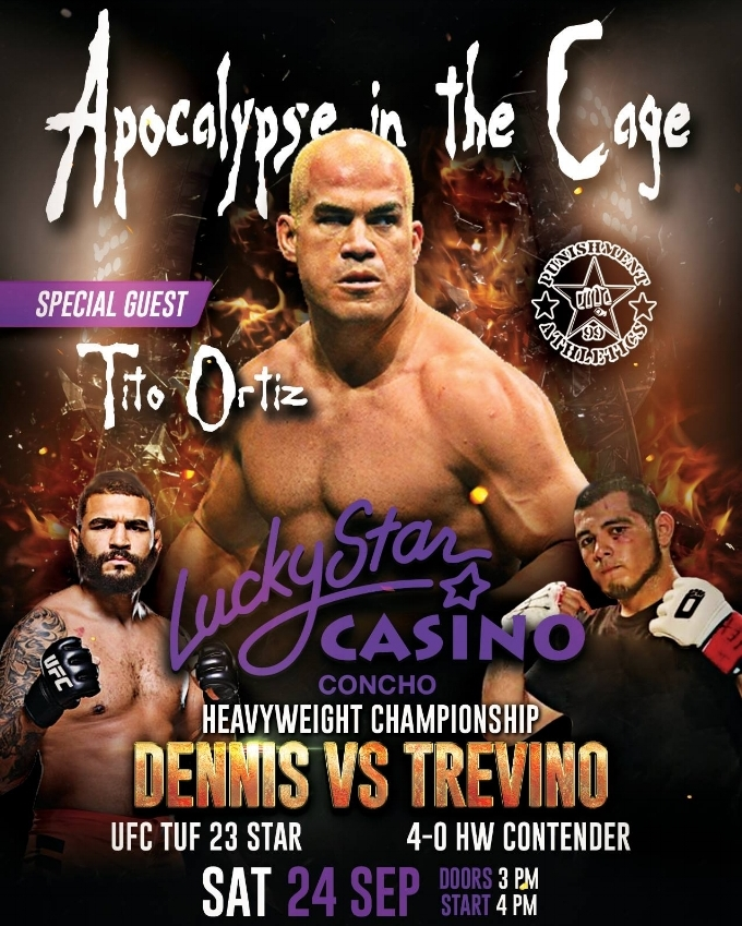 APOCALYPSE IN THE CAGE - SEPTEMBER 24, 2016  LUCKY STAR CASINO, CONCHO