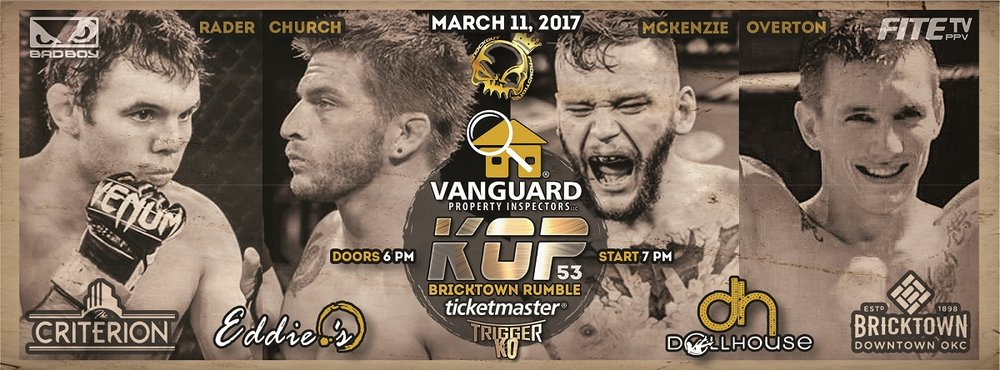 ONE OF THE BIGGEST MMA EVENTS IN OKLAHOMA HISTORY INVADES BRICKTOWN, OKC AS #2 FEATHERWEIGHT ZAC CHURCH TAKES ON #10 JUSTIN RADER & MORE!