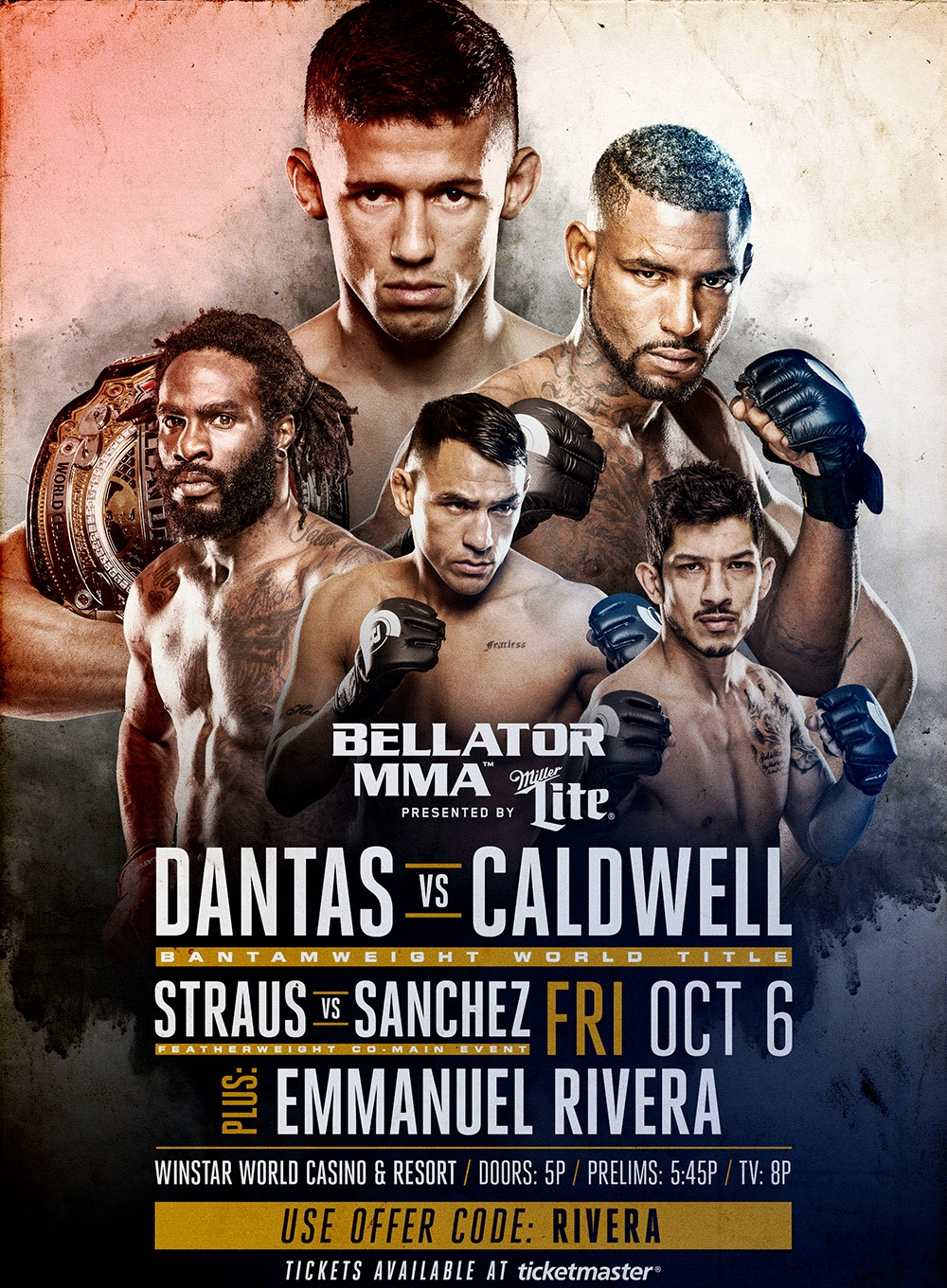 BELLATOR MMA 184 - TKO COMBAT SPORTS - OCTOBER 6, 2017  WINSTAR, OK