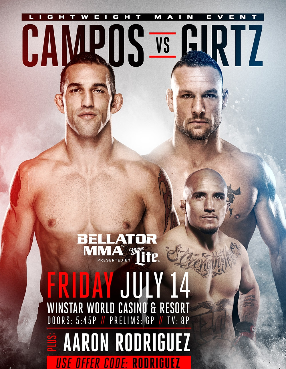 BELLATOR MMA 181 - TKO COMBAT SPORTS - JULY 14, 2017  WINSTAR OK