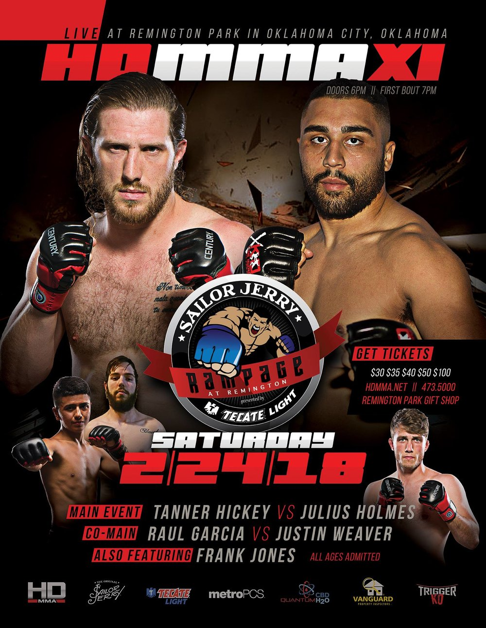 HD MMA XI   - FEB 24, 2018  REMINGTON   PARK, OKC