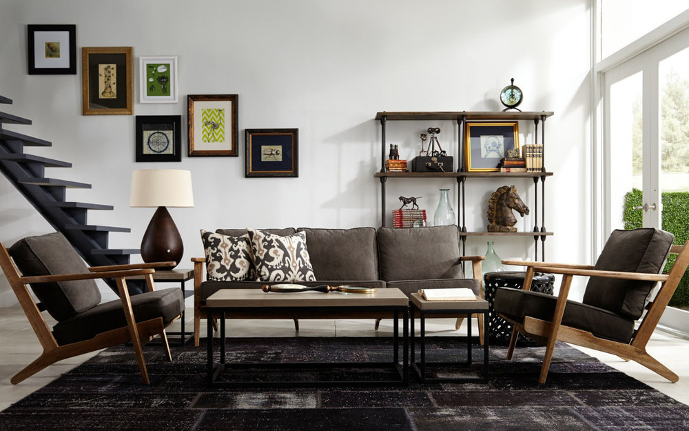 Four Hands Modern Living Room Sofa and Chairs | iFurnish, Frisco, CO