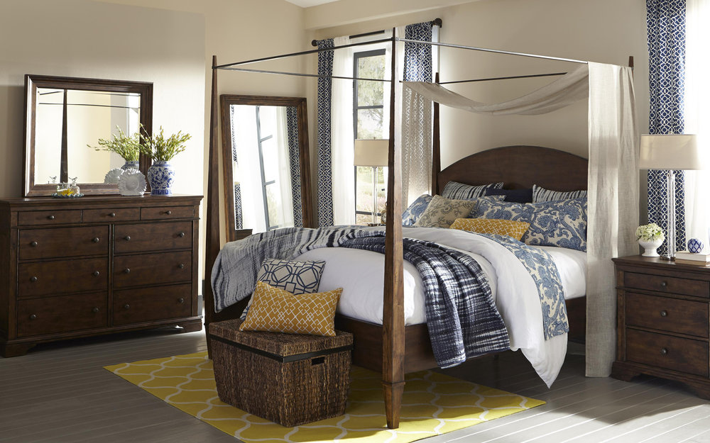 Klaussner 4 Post Bed Frame | iFurnish, Frisco, CO