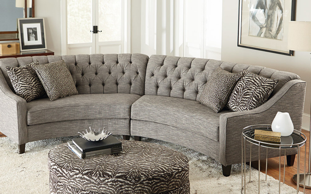 Tufted Circular Sofa and Couch | iFurnish, Frisco, CO