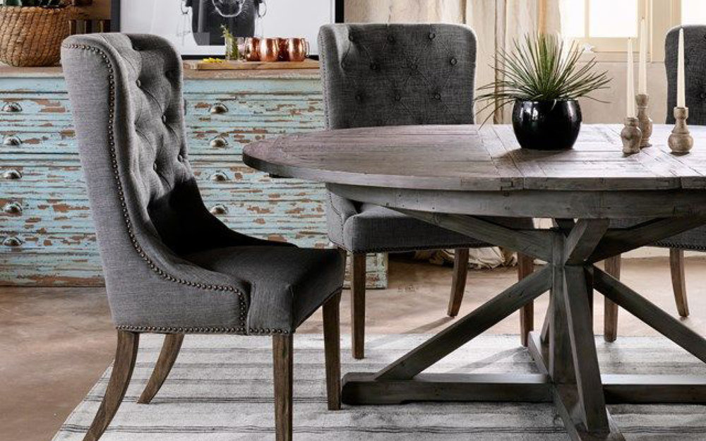 Four Hands Tufted Dining Room Chair, Rustic Modern | iFurnish, Frisco, CO