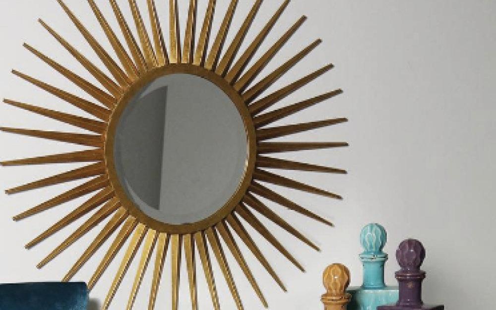 Modern Gold Sun Burst Mirror | iFurnish, Frisco, CO