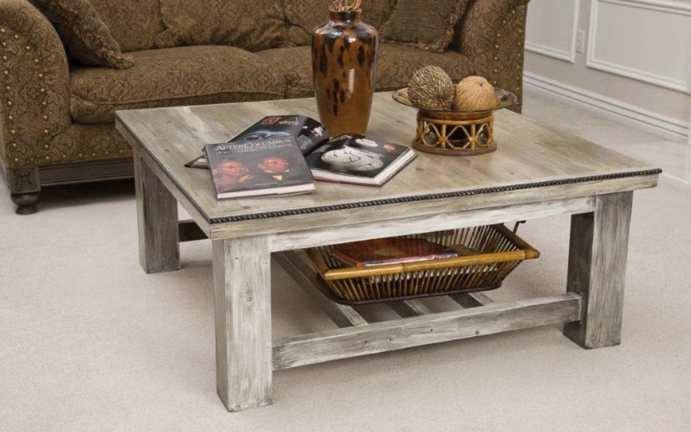 Rustic White Wood Coffee Table Utah Mountain Furniture