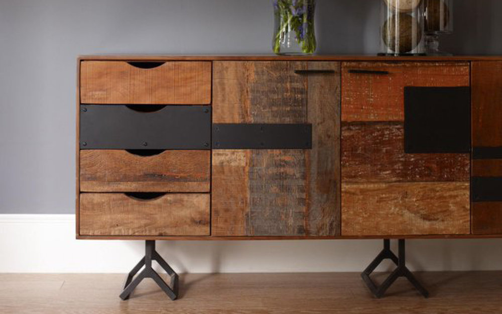 Four Hands Wood Console Modern Living Room | iFurnish, Frisco, CO