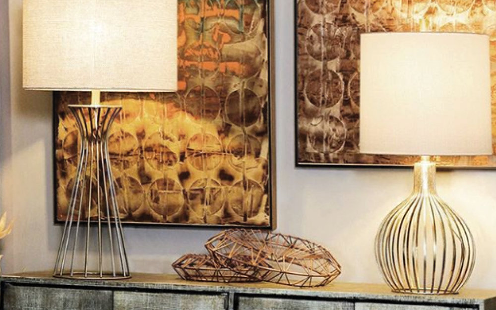 Metal Glass Table Lamp  | iFurnish, Frisco, CO