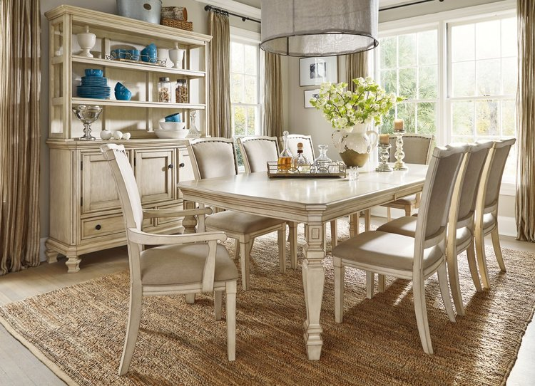traditional home dining rooms. Traditional White Wood Dining Set  iFurnish Frisco CO Featured Style Home ifurnish Furniture Store