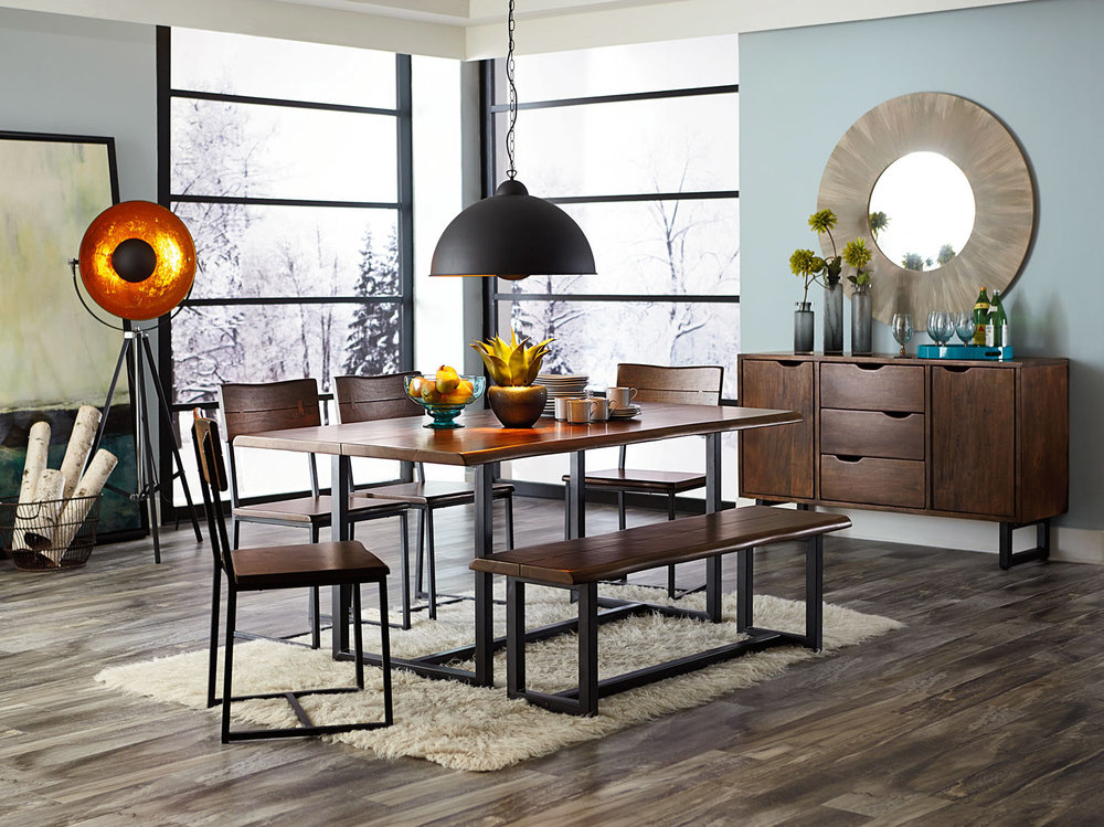 Sleek Wood And Metal Dining Set | IFurnish, Frisco, CO