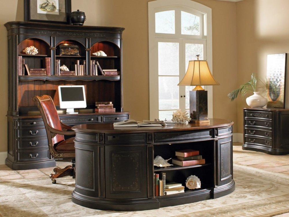 Ashley Furniture Traditional Office Oval Desk