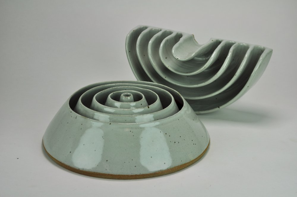 stoneware with leach white glaze