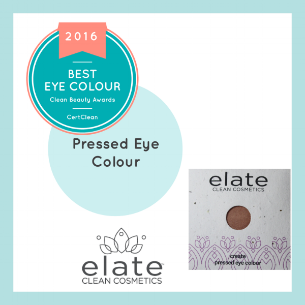 Elate Cosmetics eyeshadow in the color,  Quintessence,  won   CleanBeauty 's 1st Place Award  for Best Eyeshadow of 2016.