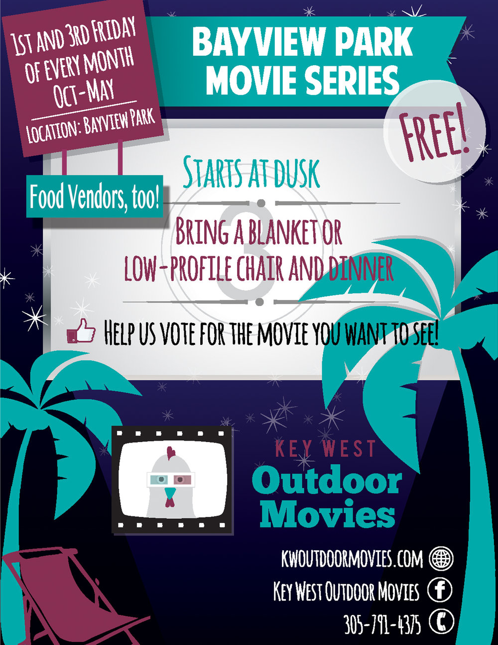 bayview park movie series key west outdoor movies
