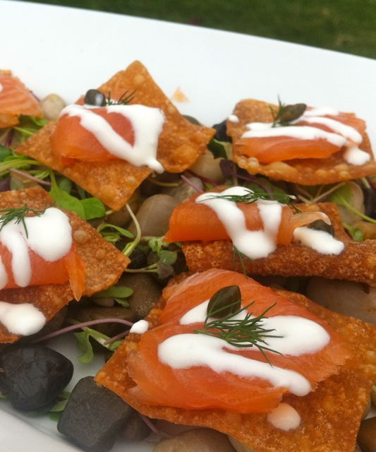 Smoked Salmon Hors D' oeuvres