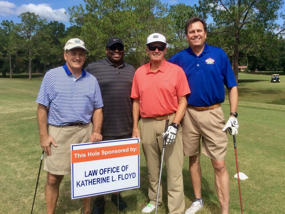 The Law Office of Katherine L. Floyd was proud to sponsor the Gainesville Quarterback Club charity golf tournament featuring the Head Ball Coach himself, Steve Spurrier.