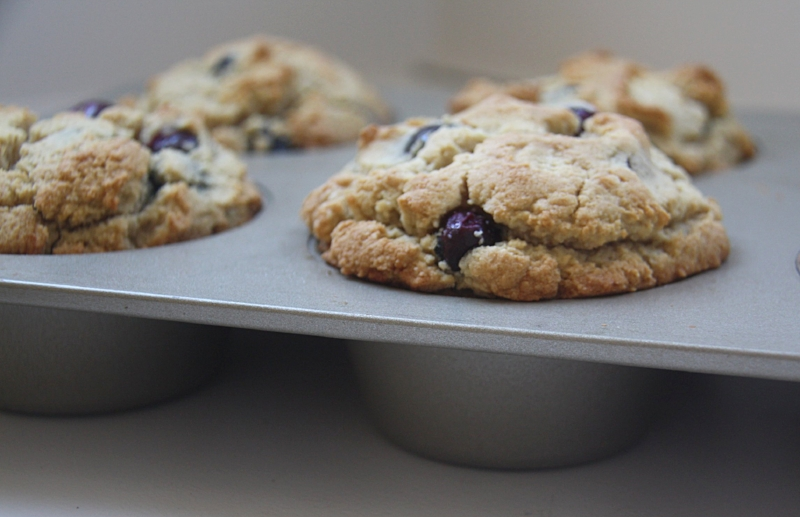 Giant Paleo Lemon Blueberry Muffins_Table to Soul