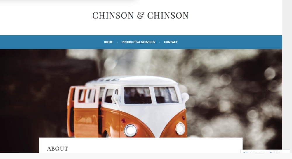 Chinson & Chinsons Website