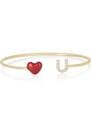 ALISON+LOU+Love+U+14-karat+gold,+diamond+and+enamel+cuff.jpg