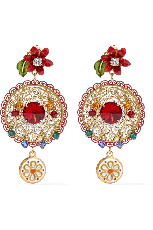 DOLCE+&+GABBANA+Gold-plated+Swarovski+crystal+clip+earrings.jpg