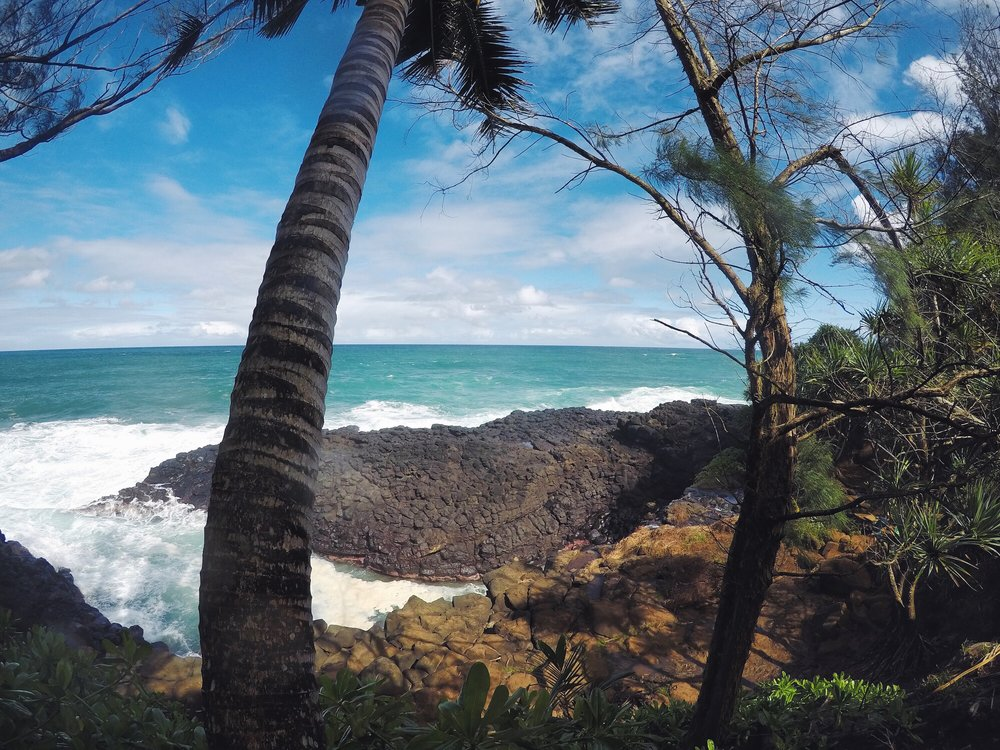 Queen's Bath, Princeville - Queen's Bath is a breathtaking tide pool surrounded by igneous lava rock.