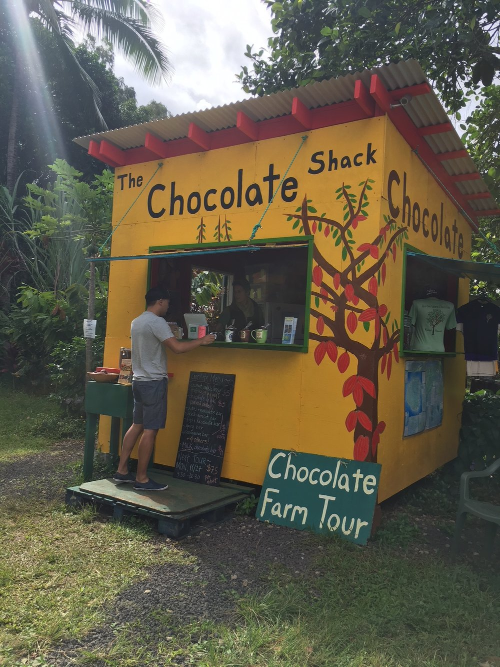 Local made chocolate - If your'e craving some sweets and chocolate, The Chocolate Shack will take care of it.