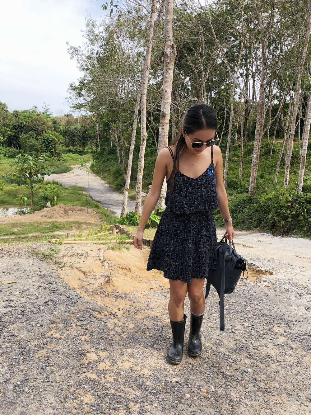 Location: Phuket | Wearing: H&M dress, Fjällräven backpack, Celine sunnies