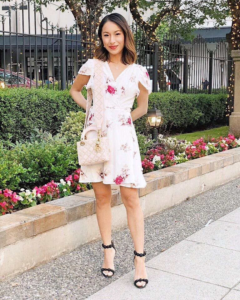 feminine + romantic - Dress: Little Mountain VancouverBag:DiorHeels: Sam Edelman