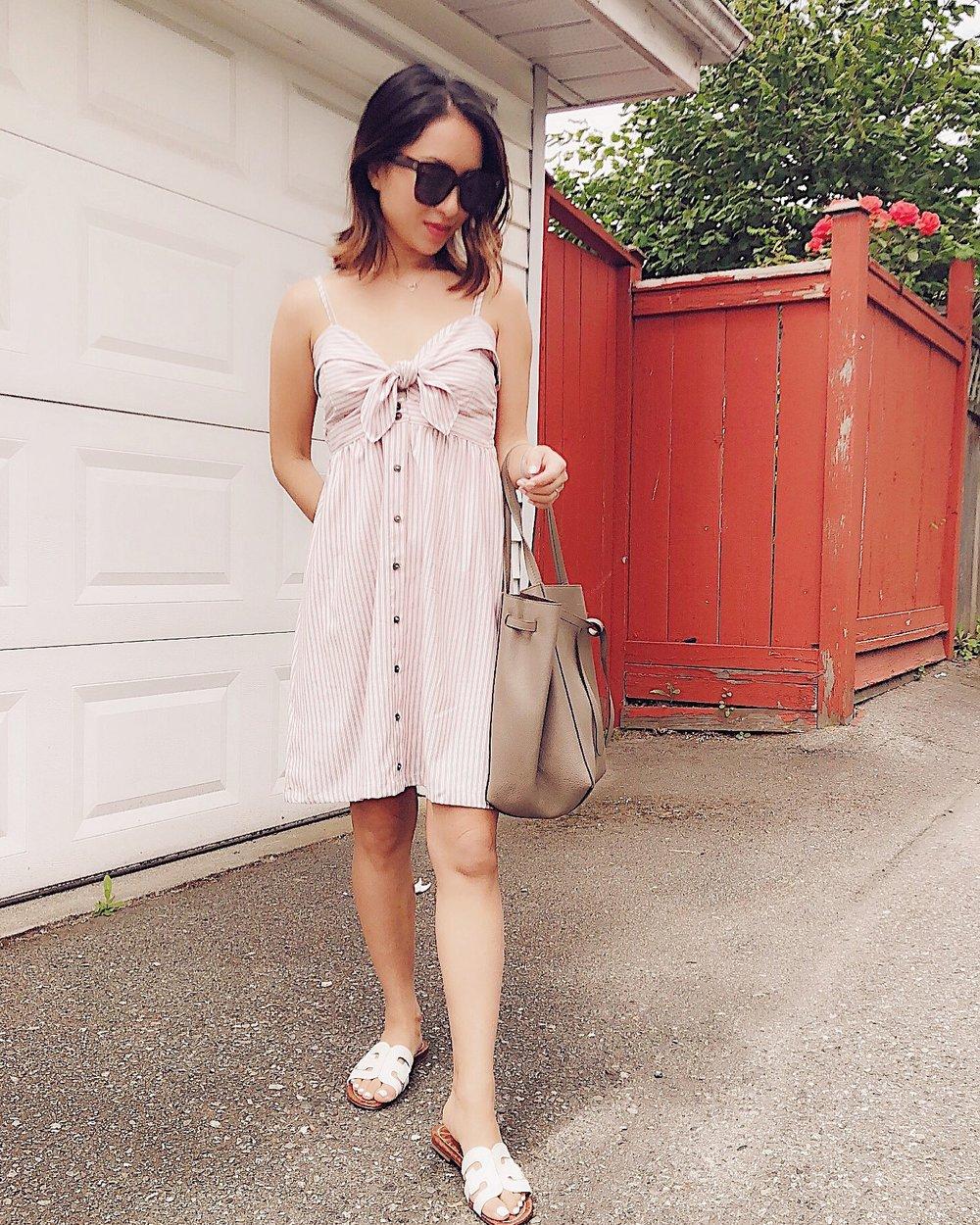 something pretty - Dress: She & SkySlides: Sam Edelman Bag: Celine