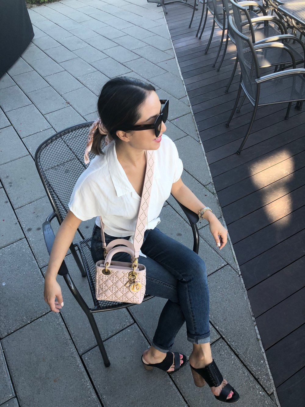 classic - Top: AritziaJeans: AgoldeBag: DiorShoes: Vince Camuto
