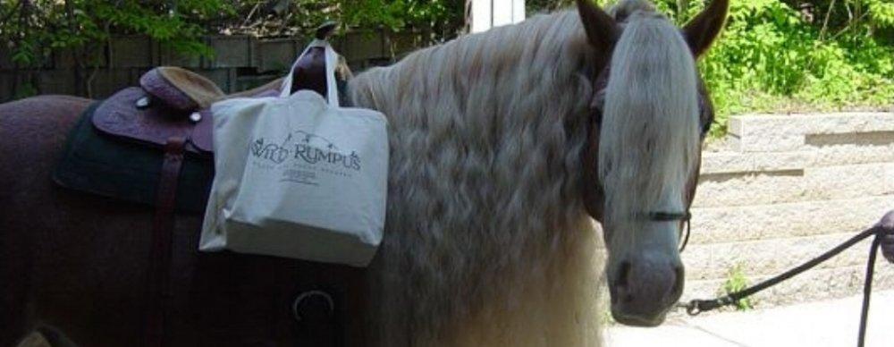 horse w wild rumpus bag.jpg