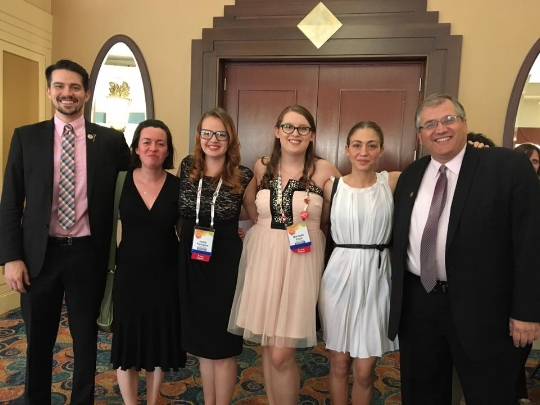 Spending time during WFH's Farewell Dinner with some powerful advocates (from l-r Patrick James Lynch, Jenna Lovell, Joelle Palmatier, Michelle Cecil, Chloe Christos, and Jorge de la Riva; photo courtesy of Michelle Cecil).