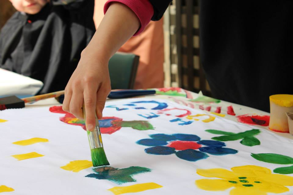 Painting a garden - Arty Party 2013