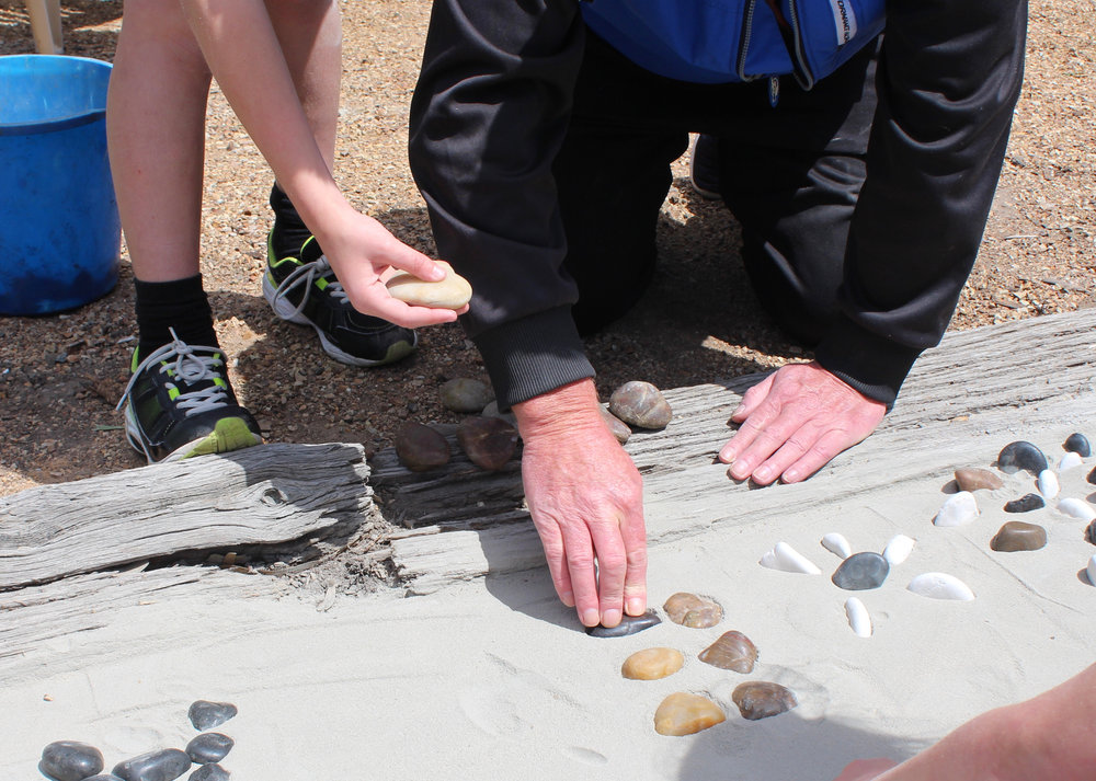 Laying pebbles together - Another pocketful of pebbles 2016