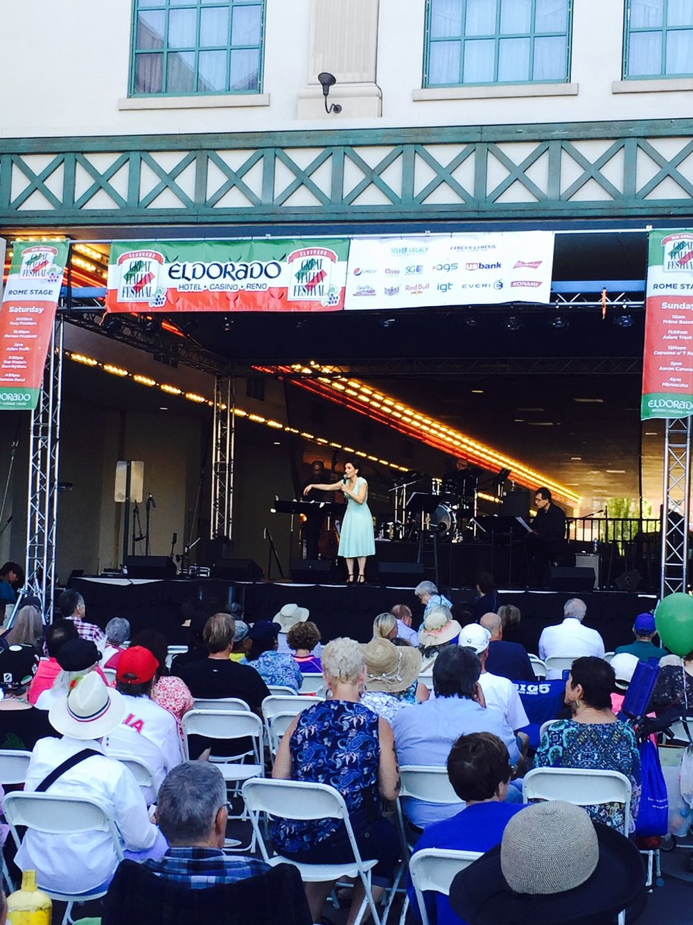 At reno's Great Italian Festival in Nevada.