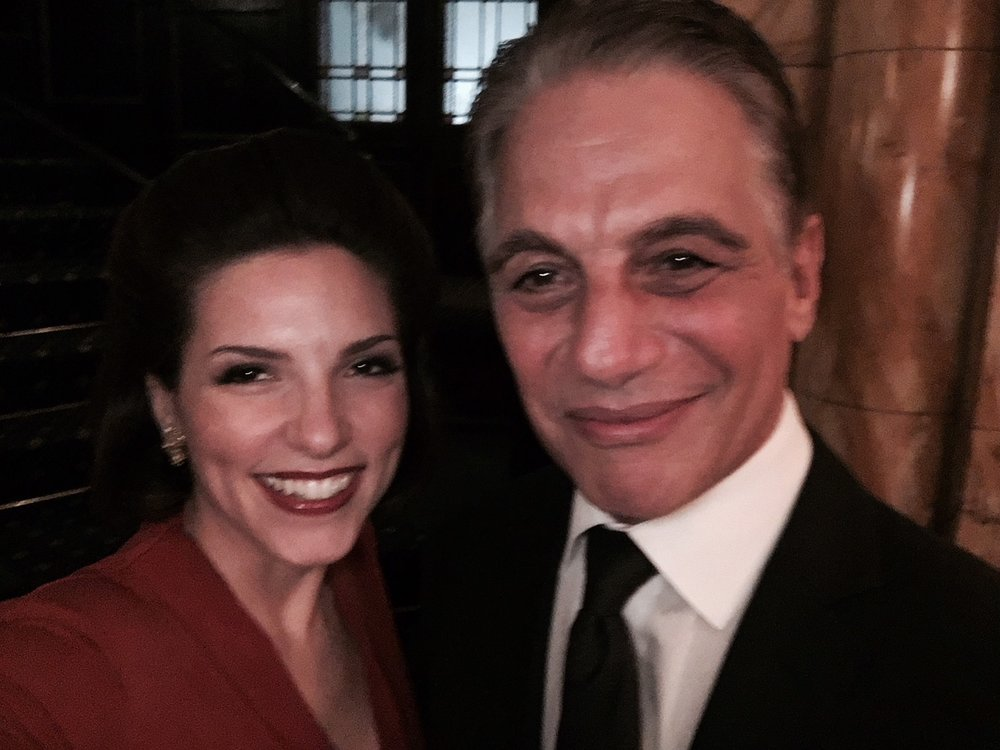 With Tony Danza at the Dean Martin Centennial, Friar's Club NYC