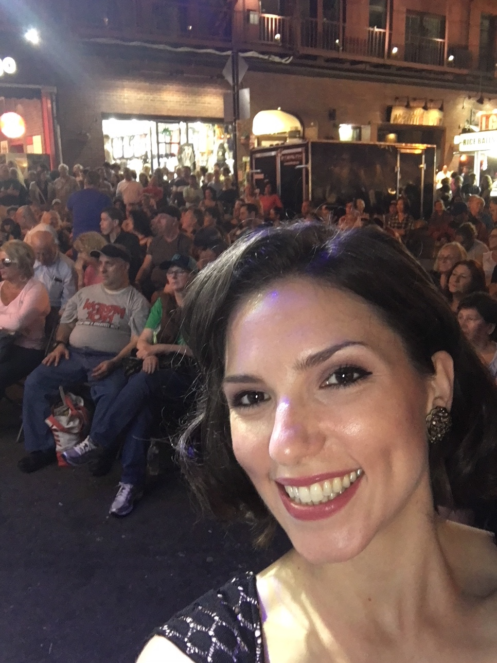 View from stage at San Gennaro
