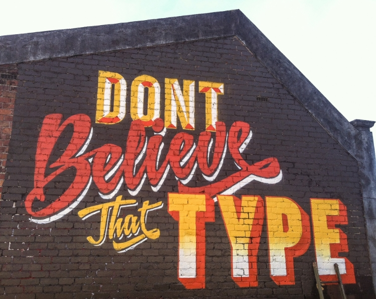 Don't believe that type Grey Lynn auckland 2014 painted with ithink