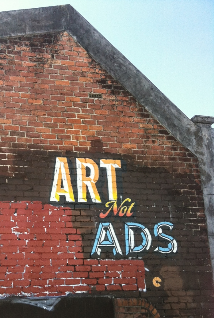 Art not Ads.Grey Lynn Auckland 2012 Painted with ithink