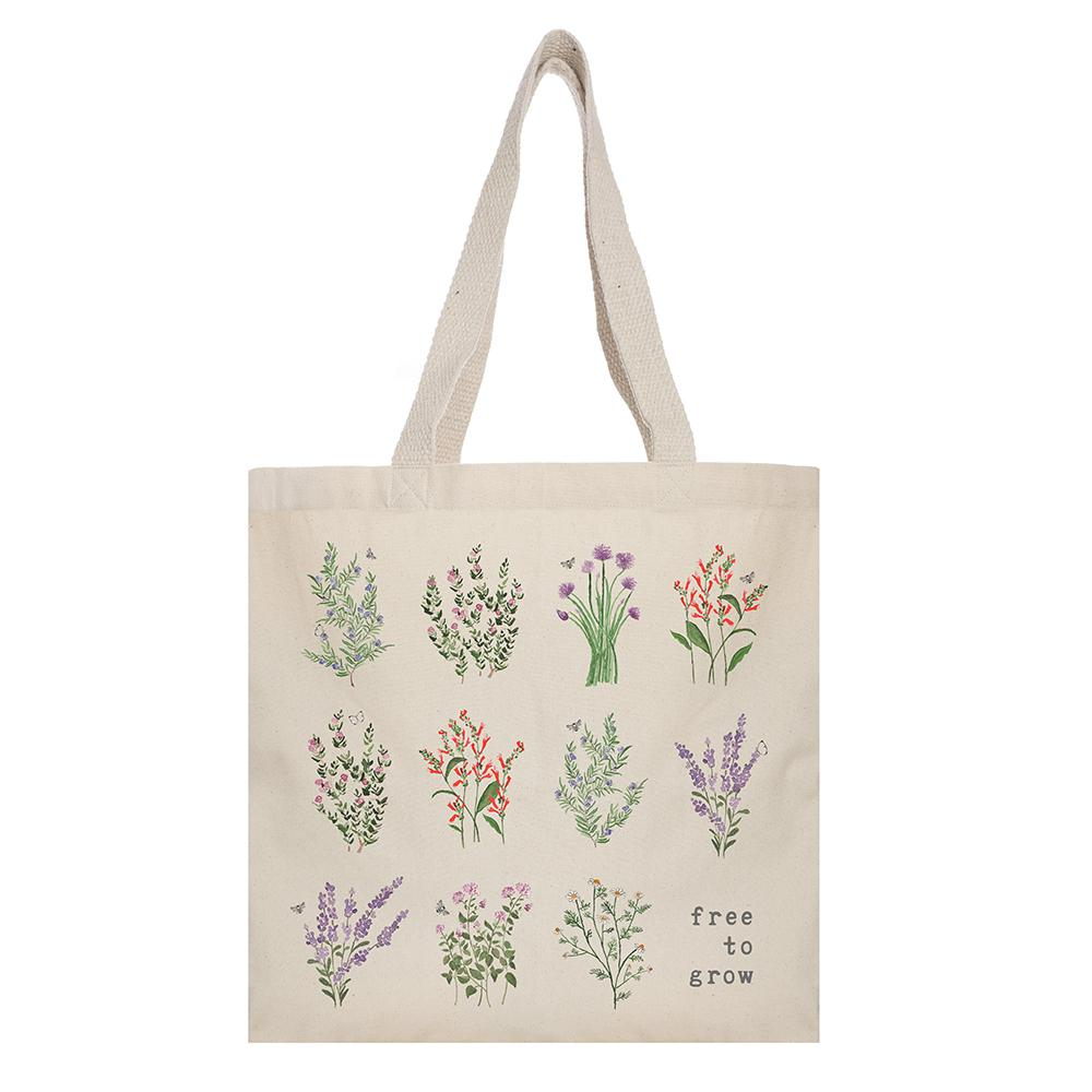 "- ""Free to Grow"" Tote-Tote Project-(10% proceeds go to Two Wings, a non-profit that mentors human trafficking survivors)"