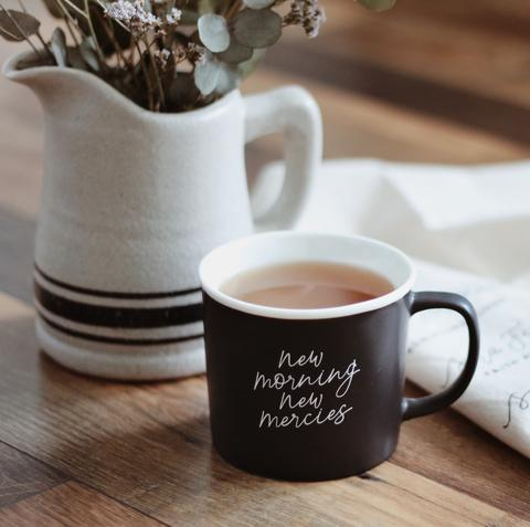 "- ""New Morning New Mercies"" 12 oz matte mug-The Daily Grace Co.-"