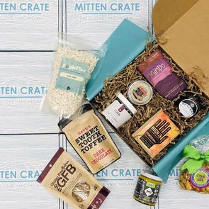 - Mitten Crate Box (4-5 items from Michigan small businesses)-Mitten Crate Co.-(provides meals for 3 people at Gleaners Food Bank)DISCOUNT CODE: BIGSHOES