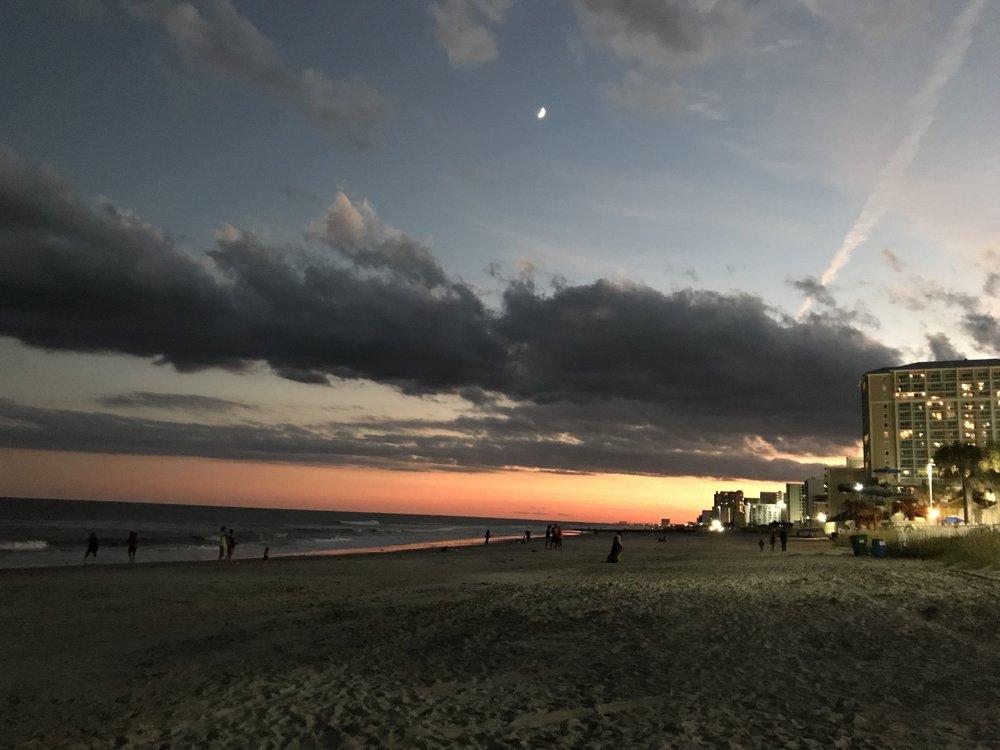 Myrtle Beach at sunset.